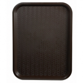 Winco - Fast Food Tray, 14x18 Brown Plastic