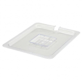 Winco - Food Pan Slotted Cover, 1/2 Size Clear PC Plastic