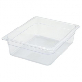 "Winco - Food Pan, 1/2 Size Clear PC Plastic, 3.5"" Deep"