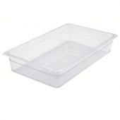 "Winco - Food Pan, Full Size Clear PC Plastic, 3.5"" Deep"