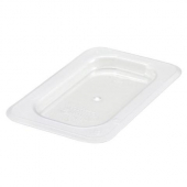 Winco - Food Pan Solid Cover, 1/9 Size Clear PC Plastic