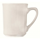 World Tableware - Porcelana Kona Mug, 8.5 oz Bright White Porcelain
