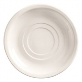 "World Tableware - Porcelana Double Well Saucer, 6"" Bright White Porcelain"