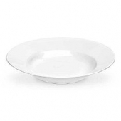 "World Tableware - Porcelana Rolled Edge Soup Bowl, 9"" Bright White Porcelain, 13 oz"