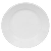 "World Tableware - Porcelana Rolled Edge Plate, 6.25"" Bright White Porcelain"