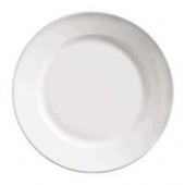 "World Tableware - Porcelana Rolled Edge Plate, 7.125"" Bright White Porcelain"