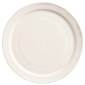 "World Tableware - Porcelana Narrow Rim Plate, 9"" Bright White Porcelain"