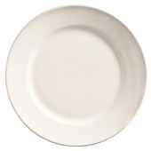 "World Tableware - Porcelana Wide Rim Plate, 9"" Bright White Porcelain"