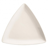 "World Tableware - Porcelana Coupe Triangle Plate, 9"" Bright White Porcelain"