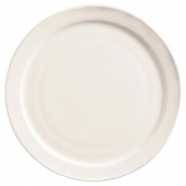 "World Tableware - Porcelana Narrow Rim Plate, 10.375"" Bright White Porcelain"