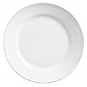 "World Tableware - Porcelana Rolled Edge Plate, 11"" Bright White Porcelain"
