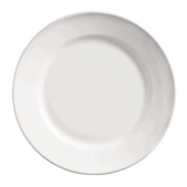 "World Tableware - Porcelana Rolled Edge Plate, 12"" Bright White Porcelain"