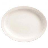 World Tableware - Porcelana Narrow Rim Platter, 13.125x10 Oval Bright White Porcelain, 12 count