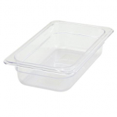 "Winco - Food Pan, 1/4 Size Clear PC Plastic, 2.5"" Deep"
