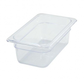 "Winco - Food Pan, 1/4 Size Clear PC Plastic, 3.5"" Deep"