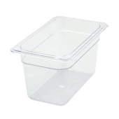 "Winco - Food Pan, 1/4 Size Clear PC Plastic, 5.5"" Deep"