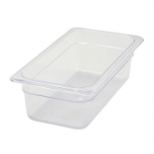 "Winco - Food Pan, 1/3 Size Clear PC Plastic, 3.5"" Deep"
