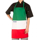 Hilite - Apron, Tri-Color (Green, White, Red) with Adjustable Neck and 2 Center Pockets, 28x30