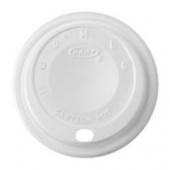 Dart - Lid, Cappuccino (Coffee Style) Plastic for 8 oz Foam Cups, White