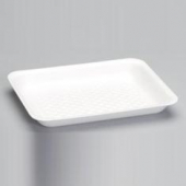 Meat Tray, White, #8HP Supermarket, 10.38x8.25x1.25