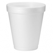 "Dart - Foam Cup, White, 8 oz, 3.5"" Height"