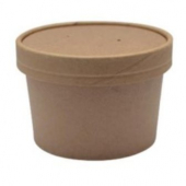 Food Container/Lid Combo, 12 oz, Kraft Paper