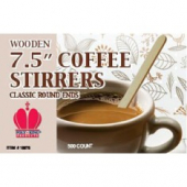 "Stirrer, 7.5"" Wooden Coffee Stirrer"