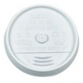 Dart - Lid, Sip-Thru (Coffee Style) for 8 oz Foam Cups, White Plastic