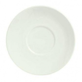 "Syracuse China - Flint Barista Saucer, 6.25"" Medium American White"