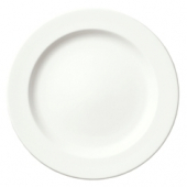 "Syracuse China - Slenda Dinner Plate with Medium Rim, 10.5"" Royal Rideau White"