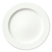 "Syracuse China - Slenda Dinner Plate with Medium Rim, 12.125"" Royal Rideau White"