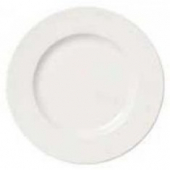 "Syracuse China - Slenda Plate with Wide Rim, 10.5"" Royal Rideau White"
