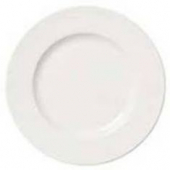 "Syracuse China - Slenda Plate with Wide Rim, 7.375"" Royal Rideau White"