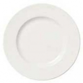 "Syracuse China - Slenda Plate with Wide Rim, 9.875"" Royal Rideau White"