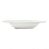 "Syracuse China - Reflections Soup Bowl with Deep Rim, 9.375"" Aluma White"