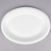 Genpak - Platter, White, Large Laminated Oval, 8.5x11.5