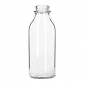 Libbey - Glass Milk Bottle, 33.5 oz