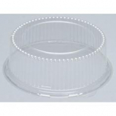 "Genpak - Lid, Clear Plastic Dome Lid, Round, Fits 8.88"" Plates, 3"" height"