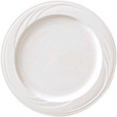 "Syracuse China - Cascade Dinner Plate, 6.25"" Cream White"