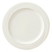 "Syracuse China - Cascade Dinner Plate, 12.25"" Cream White"