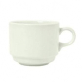 Syracuse China - Flint Stacking Tea Cup, A La Carte, 8 oz American White