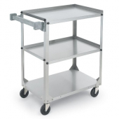 Vollrath - Cart, 3-Shelf Utility, 35x18.25x34.75 Stainless Steel