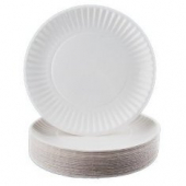 "Paper Plate, 9"" Uncoated White"