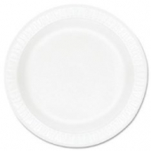 "Dart - Plate, 9"" White Non-Laminated Foam"