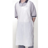 Apron, Disposable Poly Heavy Weight White, 28x46