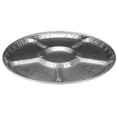 "HFA - Aluminum Lazy Susan Catering Tray, 16"" with 6 Compartments"