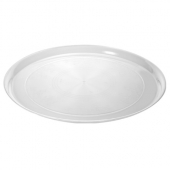 "Fineline Settings - Platter Pleasers Cater Tray, 18"" Round Clear Plastic"