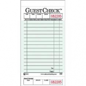 Guestcheck Board, Single Paper Green with Perforated Order Receipt Stub, 15 Lines, 3.5x7