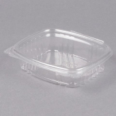 Genpak - Deli Container with Hinged Lid, 8 oz Clear Plastic