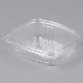 Genpak - Deli Container with Hinged Dome Lid, 8 oz Clear Plastic